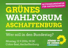 Grünes Wahlformum Aschaffenburg