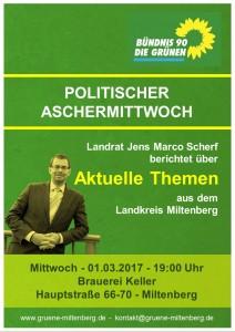 Plakat Politischer Aschermittwoch 2017
